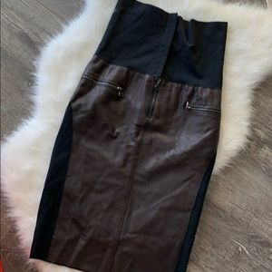 Hood by Air | Buffalo leather high waisted skirt